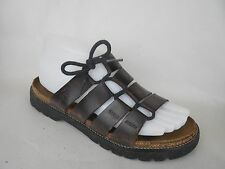 NAOT Womens 7 Narrow Brown Leather Lace up Sandals Shoes Slides Strappy EUR  38