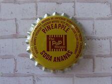 Old Beer Bottle Crown Cap ~ The POP SHOPPE Pineapple Soda Pop ~ Toronto, CANADA