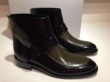 NIB Marni Ankle Boots Spazzolato Black- See Weed Leather Size 40 US 10