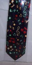 NOTE MUSICALI IN Cravatta Blu Scuro