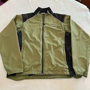 Sugoi Versa Biking Jacket W/ Removable Sleeves Tan Black Size Medium Back Pocket