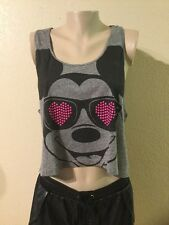 Disney MICKEY MOUSE TOP TSHIRT GRAY COLOR WOMEN  SIZE M