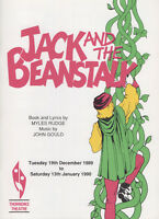 JACK AND THE BEANSTALK - RODNEY BEWES - THORNDIKE THEATRE 1989 PROGRAMME
