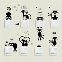 Cat Switch Wall Stickers Bathroom Cartoon Home Living Room Bedroom Decoration