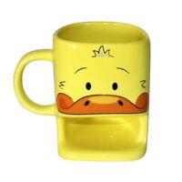 Ente Tasse mit Keksablage - Duck Cookie Cup Mug Kaffeebecher Kekstasse gelb neu
