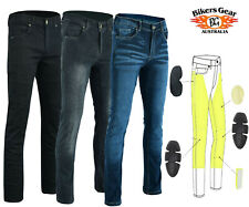 Australian Bikers Gear Kevlar Lined Stretch Motorcycle CE Armour Denim Jeans