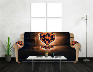 Chicago Bears 1/2/3 Seat Chair Sofa Couch Cover Waterproof Slipcover Protector