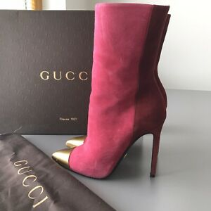 100% Authentic Gucci Leather Ankle Boots - Size 36