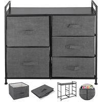Fabric 5-Drawer Dresser and Storage Organizer Unit for Bedroom, Dorm