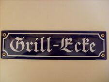 "Mini-Straßenschild ""Grill-Ecke"""