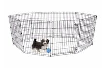 """Vibrant Life 24""""H Perfect Indoor & Outdoor Pet Exercise Play Pen - Black"""