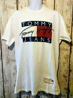 Vintage Tommy Hilfiger T Shirt Size XL White Oversized Retro 90s
