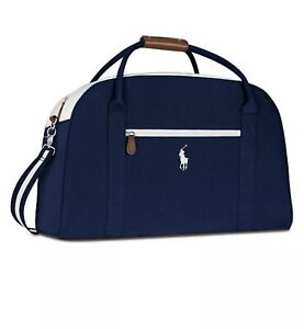 NEW POLO RALPH LAUREN Pony Navy/ Blue Duffle Bag Sports Gym Travel Carry-On
