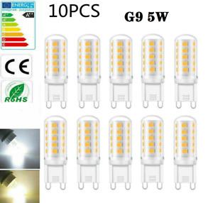 10x G9 LED Kaltweiß 5W Ersetzt 40W Halogen Lampe Glühbirnen