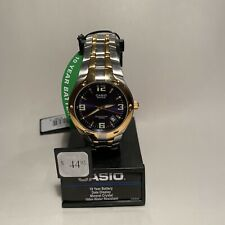 Casio EF106SG-2AWT, Edifice Watch, 2-Tone Stainless Steel Band, Date, Blue Dial