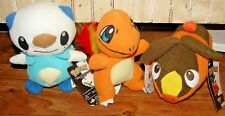 POKEMON PLUSH TOY SET OF 3 BRAND NEW WITH TAGS OSHAWOTT CHARMANDER TEPIG