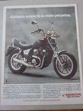ADVERTISING PUBBLICITA' HONDA VT 500 CUSTOM   -- 1986
