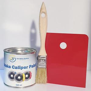 FERRARI ROSSO RED BRAKE CALIPER PAINT ENGINE Heat Resistant 250ml Free Brush