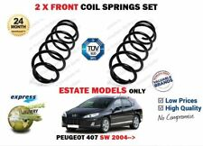 FOR PEUGEOT 407 SW ESTATE MODELS 2004->NEW 2X FRONT LEFT RIGHT COIL SPRINGS SET