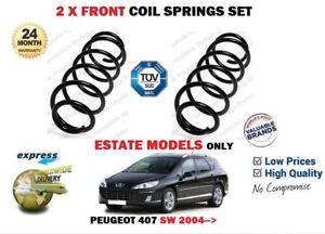 FOR PEUGEOT 407 SW ESTATE MODELS 2004->NEW 2X FRONT LEFT RIGHT COIL SPRINGS SET