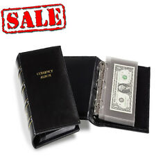 Banknote Mini Album Small Modern Bills US World Currency Collection w/ 20 pages