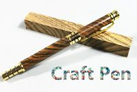 Handmade Craft Tiger Stripe Wood Pen With One Ball point&One Fountain Pen Refill