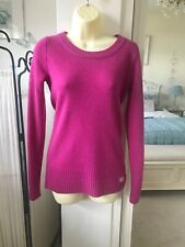 Superdry Cerise Pink 100% Lambswool Jumper Size S UK 10
