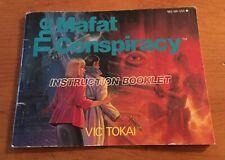 The Mafat Conspiracy - Nintendo NES Instruction Manual Booklet