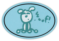 Oval Dog Car Magnet - Woof - Life Is Good - Magnetic Bumper Sticker Decal