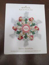HALLMARK KEEPSAKE ORNAMENT Savory Snowflake - Kitchen Utensils - 2011