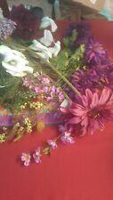 wholesale lots free shipping silk flowers bridal purple wedding
