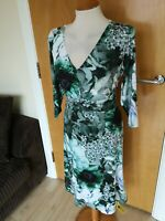 Ladies Dress Size 14 TOGETHER Green Stretch Ruched Party Evening Wedding Races