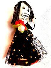DAY OF THE DEAD SKELETON  BRIDE IN BLACK - OAXACA, MEXICO