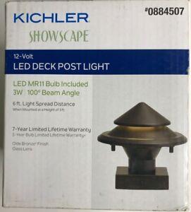 Kichler Showscape Post Light Cap 3-Watt Olde Bronze Low Voltage Model #28317