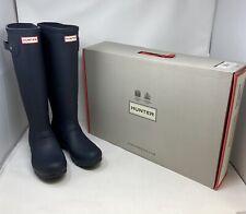 Hunter Women's Original Tall Rain Boots Navy Size 8 WFT1000RMA