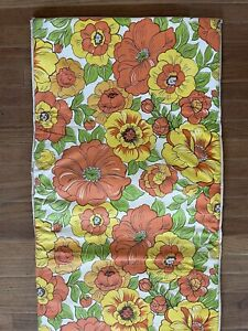 Vintage VINYL CUSHION SEAT FOR PATIO CHAIR LOUNGE 60s 70s FLOWER POWER hippie