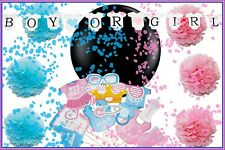 Gender Reveal Party Supplies - Baby Shower Decorations Set - Tablecloth Photo Pr