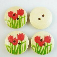 10 X madera en forma de hueso colores mezclados botones-chatarra de reserva-Costura
