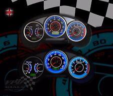 Subaru Impreza WRX interior speedo dash clock panel lighting white dial kit