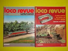 Revue LOCO REVUE 1980 annee complete (locomotive wagon décor alimentation DCC)