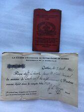 1925 BANK COVER RECEIPT CAISSE D'ECONOMIE NOTRE DAME QUEBEC CANADA DESJARDINS