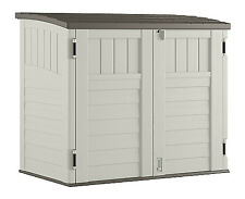 SUNCAST CORP Storage Shed, Horizontal, Double-Wall Resin, 34-Cu. Ft. BMS2500
