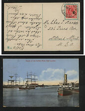 Transvaal  nice color post card (ships) to US 1913       KL0121