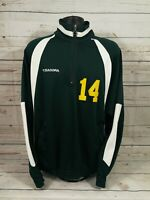 Diadora USF 1/4 Zip Up Sweatshirt ~ #14 ~ Green And Yellow ~ Men's XL
