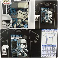 Funko Star Wars First Order Stormtrooper Pop! Tees T-Shirt Large Size: L NEW