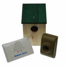 Dakota driveway alarme & unique de protection en bois bird-box (800 mètres dcma)