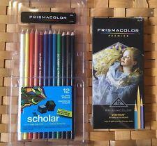 Lot Of 2 Prismacolor Premier Scholar Colored Verithin 12 Pack Colored Pencils