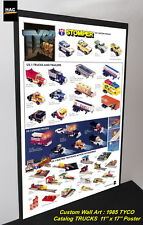 Custom TYCO Wall Art - TYCO 1985 CATALOG TRUCKs ONLY 11W x 17T Hi QA POSTER