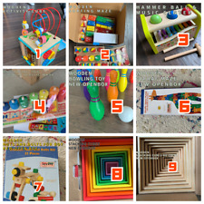 6 PIECE BLIND MONTESSORI TOY BOX! FANTASTIC WOODEN LEARNING TOYS FOR CHILDREN!