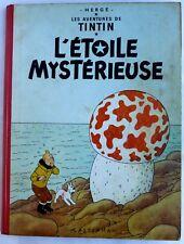 BD ALBUM TINTIN - L'ETOILE MYSTERIEUSE - B33 1963 - HERGE BE